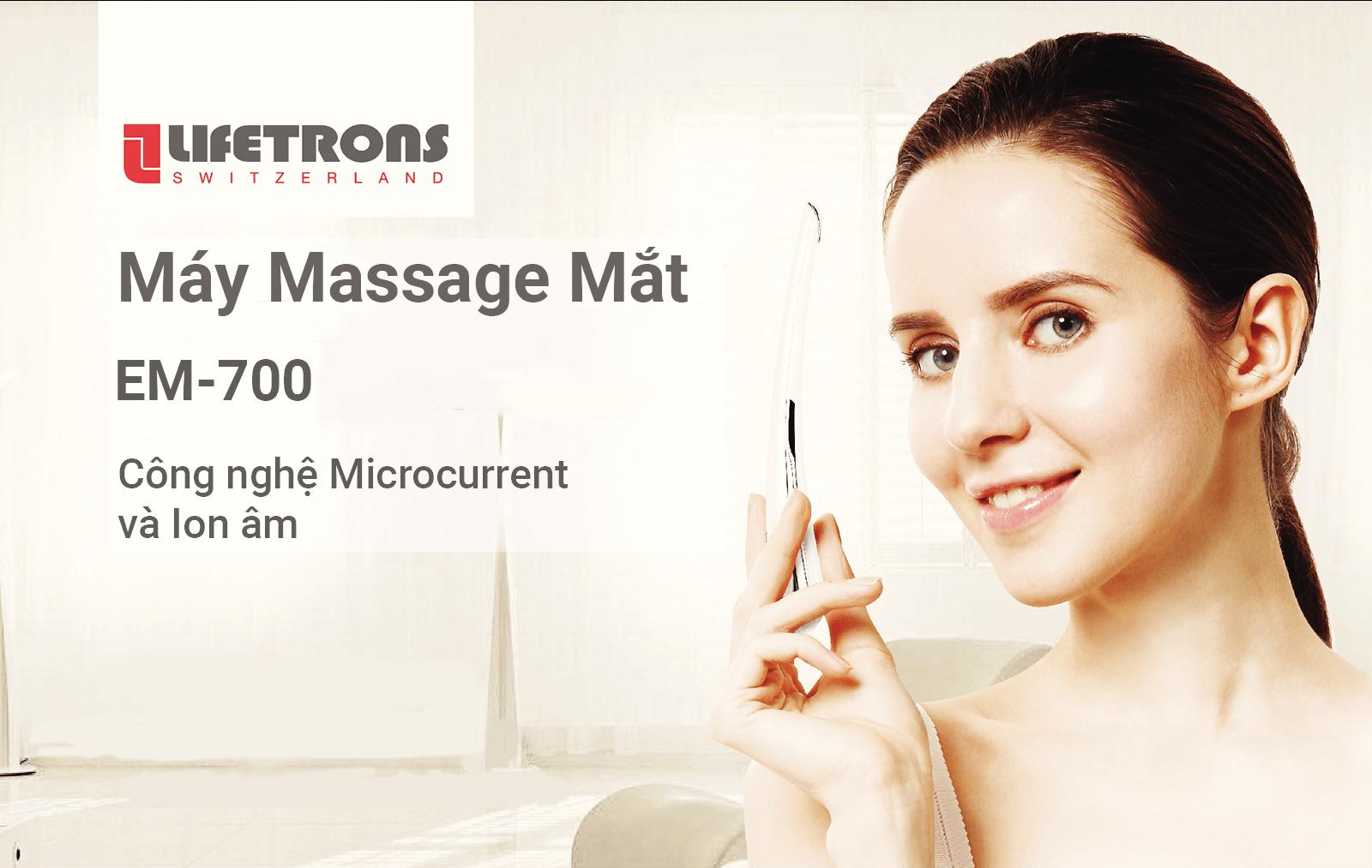 Máy massage chống lão hóa và trị liệu mắt Lifetrons EM-700