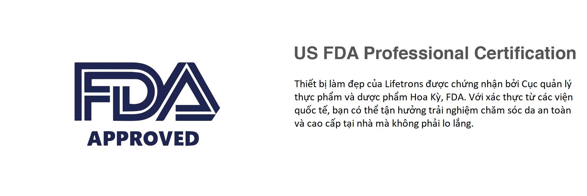 Chứng nhận FDA về an toàn các thiết bị Lifetrons