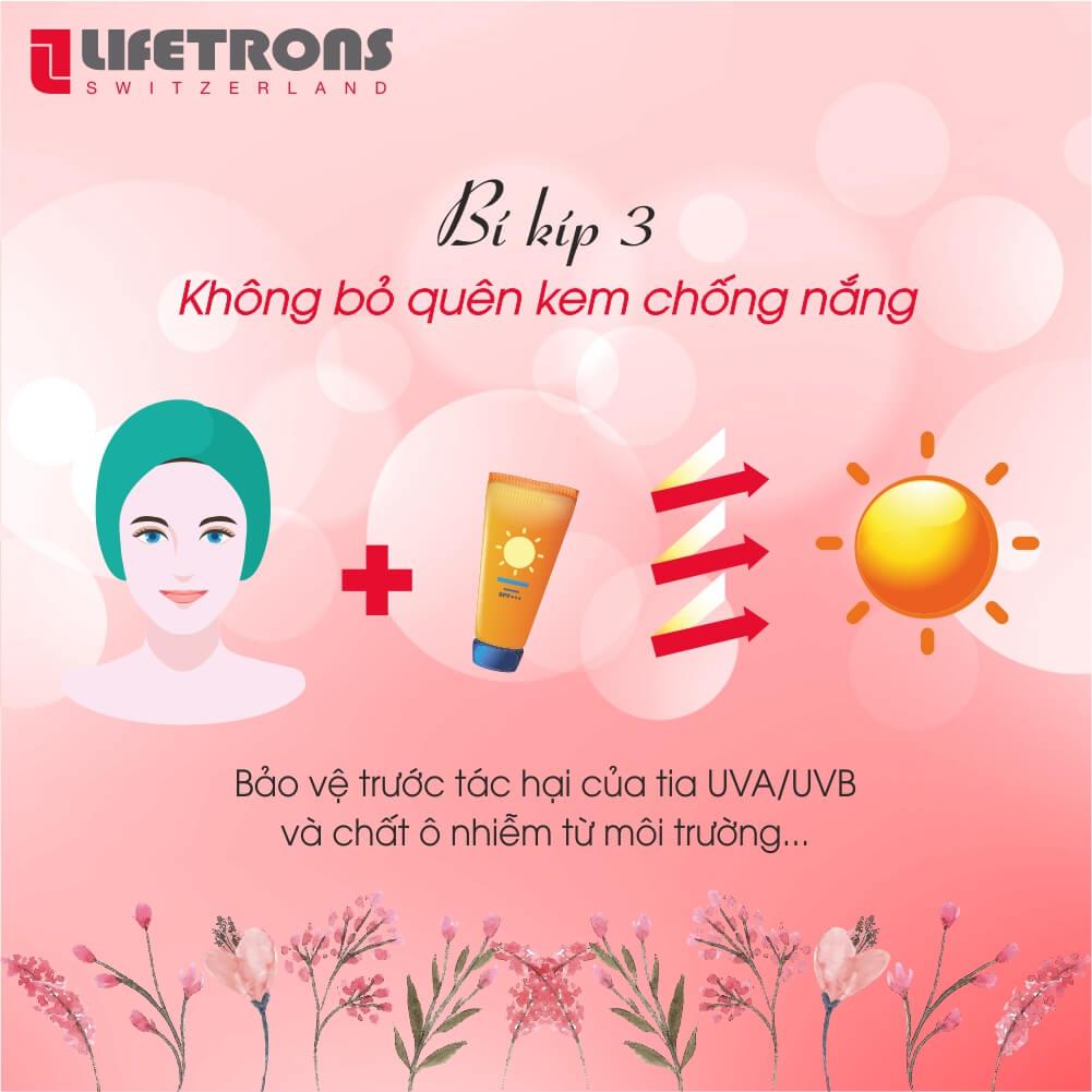 Bảo vệ da mặt trước tia UV